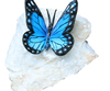 Henri Studio, 5 In. Butterfly Blue Bronze And Stone Rock